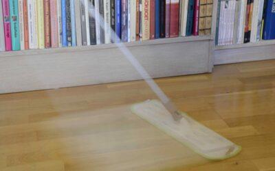 Torrmoppning av golv – miljövänlig städning